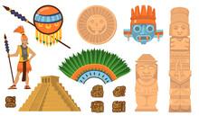Aztec And Maya Symbols Set
