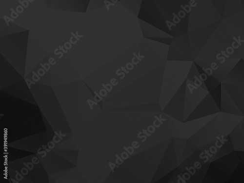 Fototapeta Black and white polygon texture obraz na płótnie