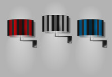 Wall Lamps With Colored Stripe...