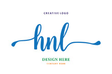 HNL Lettering Logo Is Simple, Easy To Understand And Authoritative