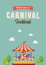 Carnival Festival Colorful Carousel