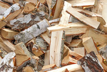 Chopped And Sawn Birch Firewood.