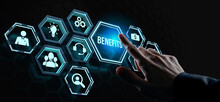 Internet, Business, Technology And Network Concept.Employee Benefits Help To Get The Best Human Resources. Business Concept.