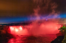 Majestic Niagara Falls At Nigh...
