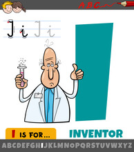 Letter I Worksheet With Cartoon Inventor
