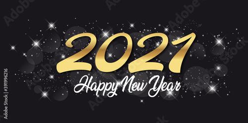 Fototapeta 2021 Greeting Card - Happy New Year obraz