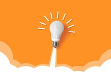 Light Bulb Rocket Launch For Idea Boost