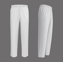 Blank Pants Mockup In Front An...