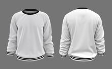 Blank White Sweatshirt Mock Up...