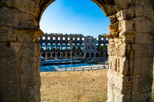 Interior View From The Pula Arena Column