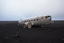 1973 US Nany C-117D Airplane Crash On Black Sand Beach, Iceland