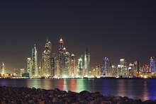 Dubai Marina Evening Skyscrapers View