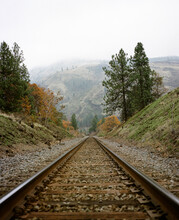 Train Tracks Disappear Into Th...