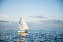 Single One Catboat Sailboat Sa...