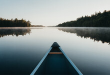 Bow Of A Canoe In The Morning ...