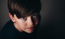 Close Up Portrait Of Young Bru...