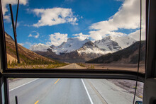 The Image Was Taken On A Regular Bus Crossing Columbia Icefields.