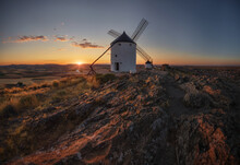The Castle And The Windmills Are Consuegra's