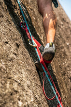 Detail Of Rock Climber Shoes A...