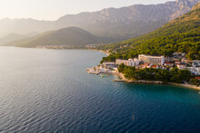 Aerial View Of Zaostrog City D...