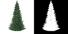 Christmas Tree With Clipping Mark.