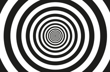 Concentric Circle Elements Pattern,  Black And White Color Ring, Circle Spin Target,