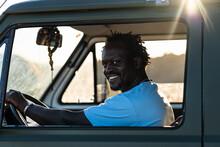 Portrait Of Smiling Afro Ameri...