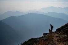 Wildfire Smoke Mountain Layers...