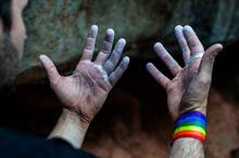 Hands And Fingers Of A Climber...