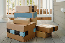Stack Of Packages On Front Por...