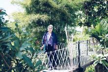 Elder Woman Resting In Garden....