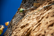 Climbing With A Part Of The Wa...