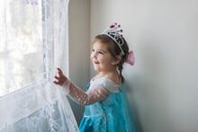 Smiling Girl In Princess Costu...