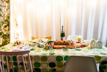 Decorated  Holidays Dinner Tab...