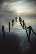Old Wooden Port Submerged At S...