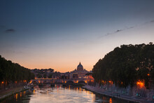Tiber Embankment With Ponte Sa...