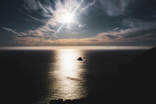 Sunset In The Dark Finistere Sea