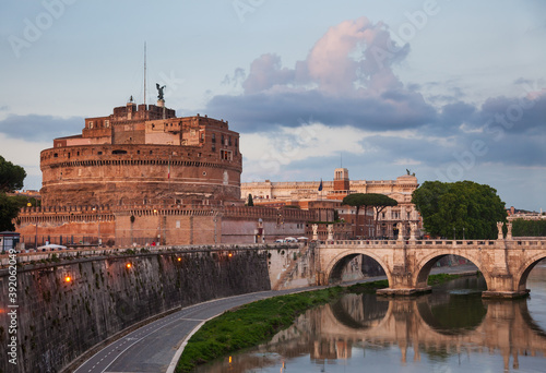 Mausoleum of Hadrian known as Castel Sant Angelo in Rome Italy Fototapete