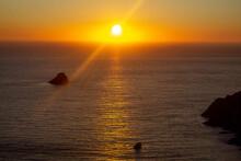 Beautiful Orange Sunset In The...