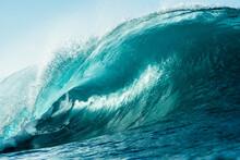 Ocean Wave Breaking In Morning...