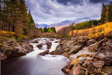 Long Exposure Over River Orchy