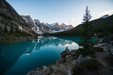 A Hiker Enjoying A Canadian Ro...