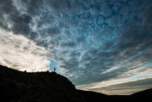 Person On Mountain In Silhouet...