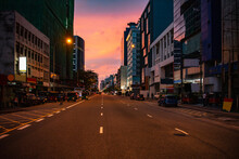 Empty Street In Colombo Just A...
