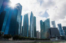 The Financial District Of Singapore
