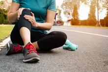 Fitness Woman Runner Feel Pain...