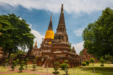 Pagoda At Wat Yai Chaimongkol ...