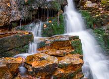 Autumn Waterfall Stream Flowin...