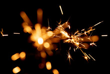 Burning Sparkler And Spots Of ...