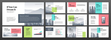 Modern Powerpoint Presentation Templates Set. Use For Modern Keynote Presentation Background, Brochure Design, Website Slider, Landing Page, Annual Report, Company Profile, Social Media Banner.